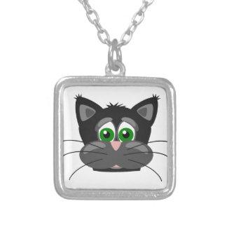 Collier Chat noir aux yeux verts