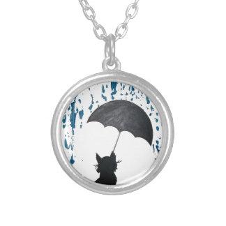 Collier Chat sous le parapluie