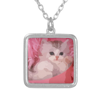 Collier chaton pelucheux rose