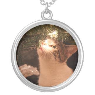 Collier Chats et lumières - chat de Noël - arbre de Noël