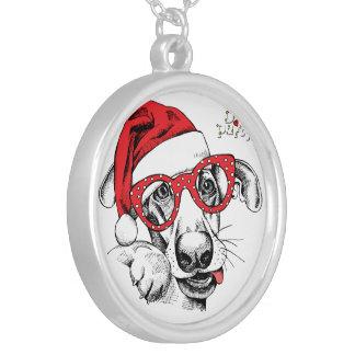 Collier Chien, Noël, vacances, décorations, célébration