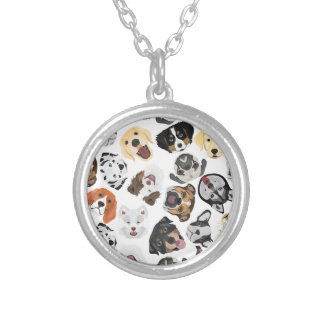 Collier Chiens de motif d'illustration
