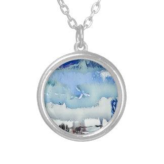 Collier Ciel coloré d'horizon d'abrégé sur bleu d'hiver
