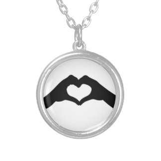 Collier Coeur-Amour-Main-Silhouette