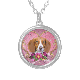 Collier Coeur de rose de maman de beagle