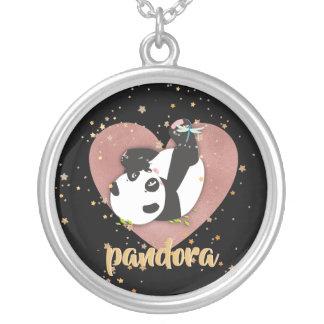 Collier Coeur d'ours panda pour des amoureux des animaux