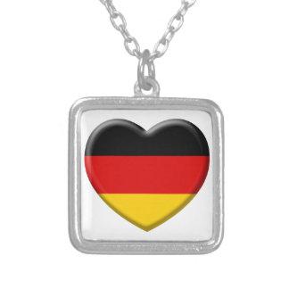 Collier Coeur drapeau Allemand j'aime l'Allemagne