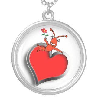 Collier Coeur mignon d'amour d'écrevisses/homard