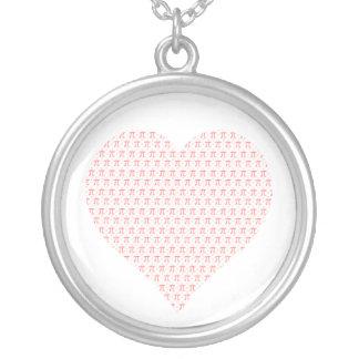 Collier Coeur rose de pi