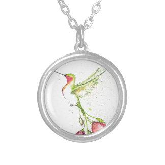 Collier colibri de queue de fleur
