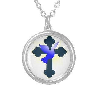 Collier Colombe et croix