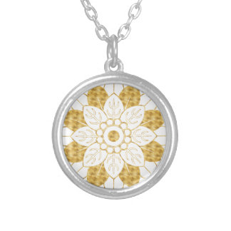 Collier Conception élégante de mandala fascinant d'or