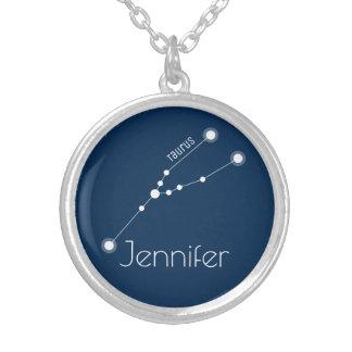 Collier Constellation personnalisée de zodiaque de Taureau
