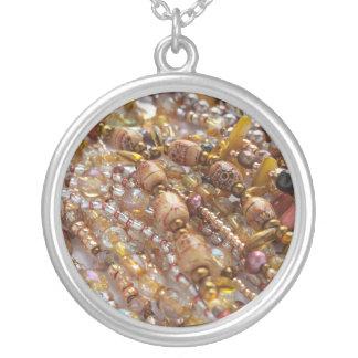 Collier Copie ronde de perle de tons de la terre de