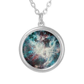 Collier Cosmos de marbre turquoise