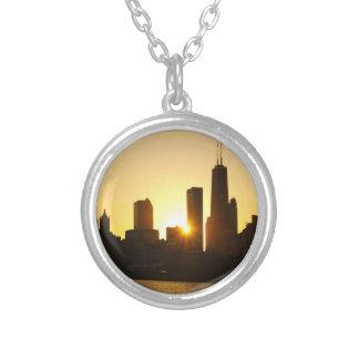 Collier Coucher du soleil d'horizon de Chicago