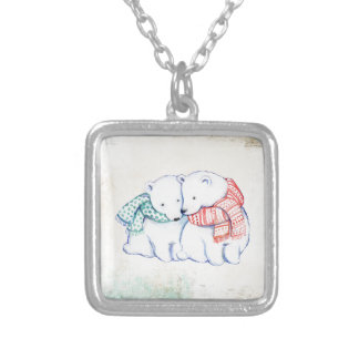 Collier Couples d'ours blancs