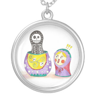 Collier Crâne Matrioshka