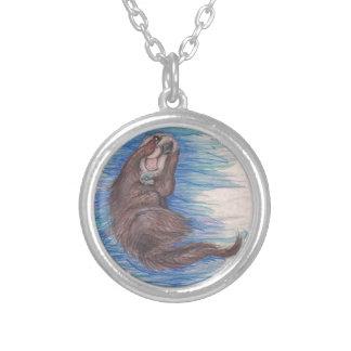 Collier Créature d'animal sauvage de loutre de mer petite