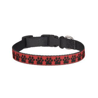 Collier d'animal familier avec le noir d'empreinte colliers pour chiens