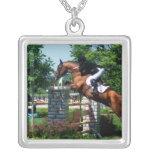 Collier d'argent sterling de cheval de Grand prix