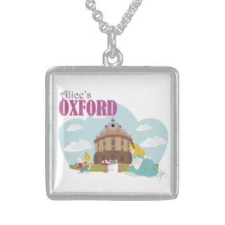 Collier de carré d'argent sterling d'Oxford