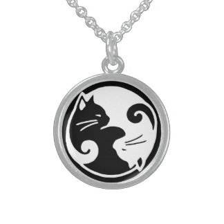 Collier de chat de Yin Yang