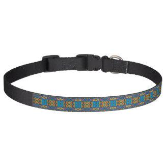 Collier de chien multicolore de motif - académie