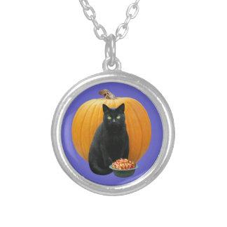 Collier de citrouille de chat noir