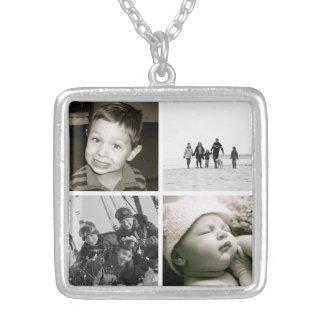 Collier de collage de photo des enfants de la mère
