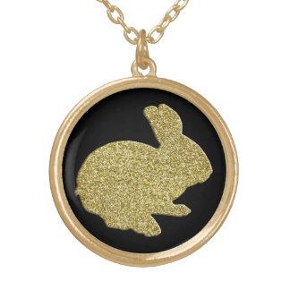 Collier de lapin de Pâques de silhouette de