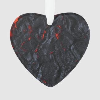 collier de pendentif de coeur de lave de valentine