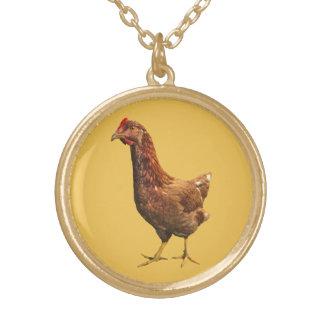 Collier de poulet de poule de rouge d'île de Rhode