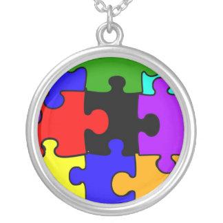 Collier de puzzle d autisme