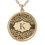 Collier de ruban de monogramme de Jaguar