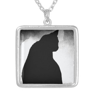 Collier de silhouette de chat noir