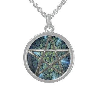 Collier de Wicca de pentagramme de pentagone