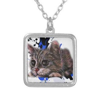 Collier Dessin de chaton comme chat avec l'art de peinture