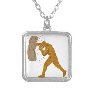 Collier Dessin de sac de sable à boxeur