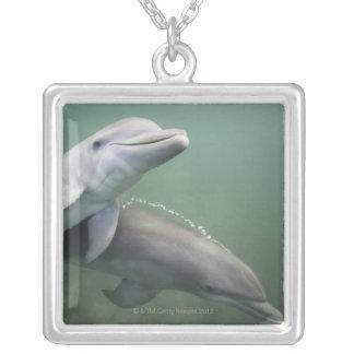 Collier Deux dauphins sous-marins