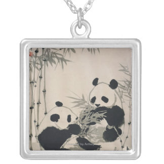 Collier Deux pandas
