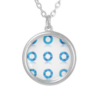 Collier Diagramms bleu