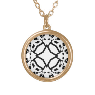 Collier d'or avec l'art de mandala