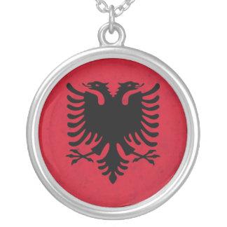 Collier Drapeau de grunge de l'Albanie