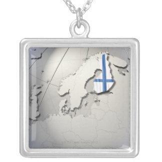 Collier Drapeau de la Finlande