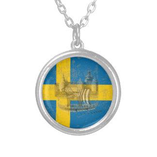 Collier Drapeau et symboles de la Suède ID159