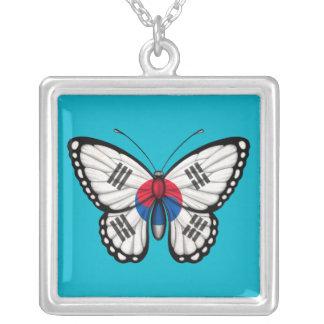 Collier Drapeau sud-coréen de papillon