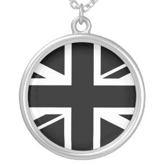Collier ~ d'Union Jack noir et blanc