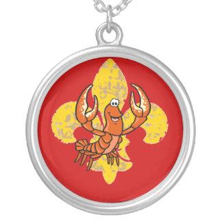 Collier Écrevisses Crayfish Fleur De Lis