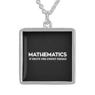 Collier En Argent Aides de maths que vous comptez
